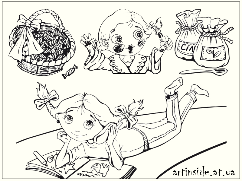иллюстрации к детским книгам на заказ Киев