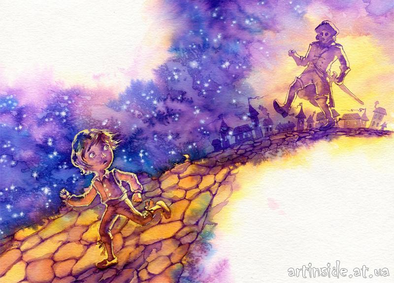 Иллюстрация путешествие нильса с