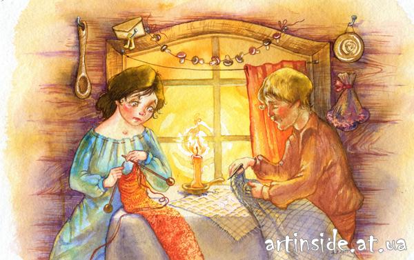 родители ждут Нильса, иллюстрация