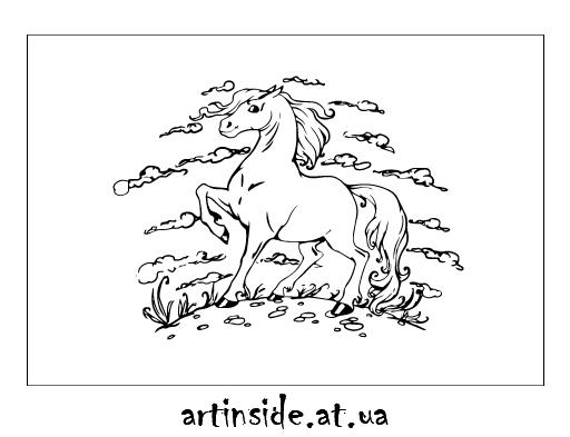 Иллюстрация лошадь